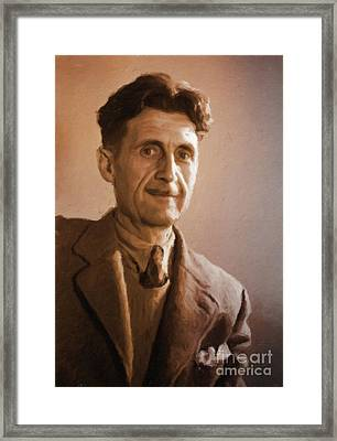 George Orwell, Literary Legend By Mary Bassett Framed Print by Mary Bassett