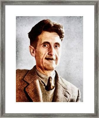 George Orwell, Literary Legend Framed Print