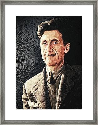 George Orwell Framed Print by Taylan Apukovska