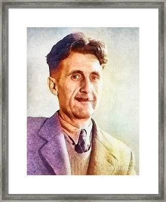 George Orwell, Writer Framed Print by Frank Falcon
