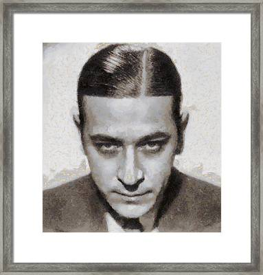 George Raft Hollywood Actor Framed Print by John Springfield