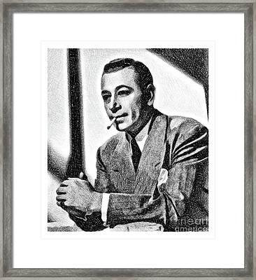 George Raft, Vintage Actor By Js Framed Print