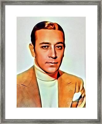 George Raft, Vintage Actor. Digital Art By Mb Framed Print