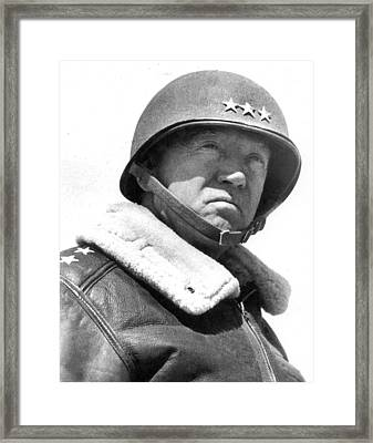 George S. Patton Unknown Date Framed Print by David Lee Guss