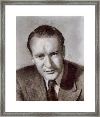 George Sanders Hollywood Actor Framed Print by John Springfield