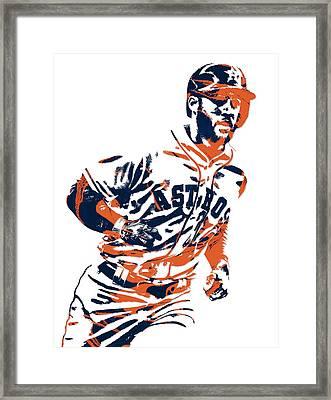 George Springer Houston Astros Pixel Art 2 Framed Print