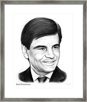George Stephanopoulos Framed Print by Greg Joens