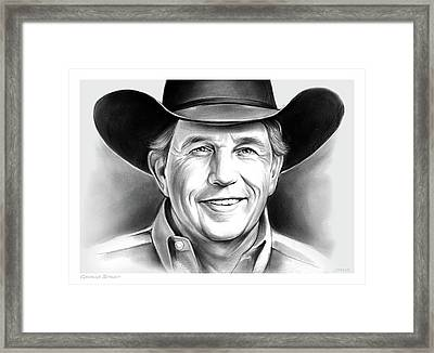 George Strait Framed Print by Greg Joens