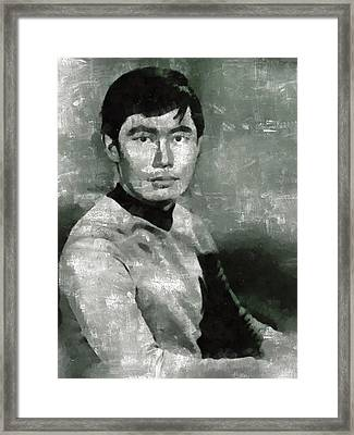 George Takei, Sulu From Star Trek Vintage Framed Print by Mary Bassett