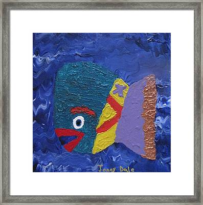 George The Treasure Fish   Framed Print by Jonathan Dale