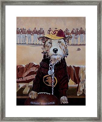 George Tirebiter Framed Print by Debra Freeman