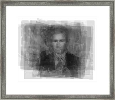 George W. Bush Framed Print by Steve Socha
