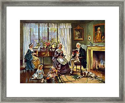 George Washington And Family Framed Print