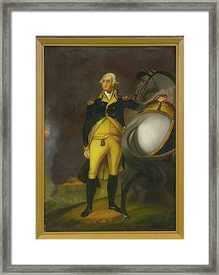 George Washington And His Horse Framed Print