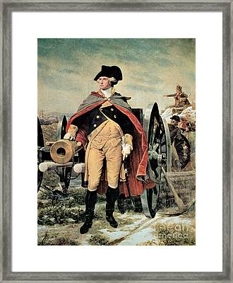 George Washington At Dorchester Heights Framed Print by Emanuel Gottlieb Leutze