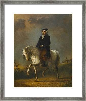 George Washington At Mount Vernon Framed Print by Alfred Jacob Miller
