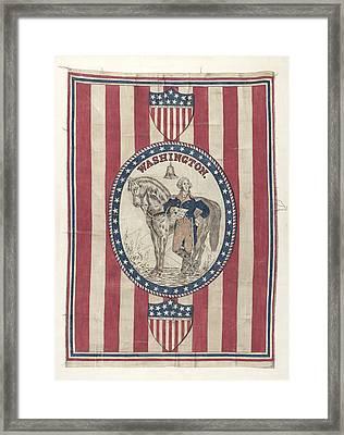 George Washington Banner Framed Print by Michael Trekur