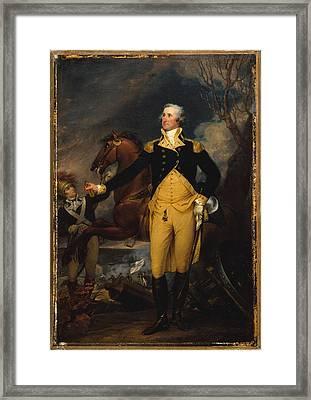 George Washington Before The Battle Framed Print