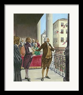 Sworn In Framed Prints