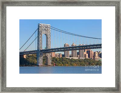 George Washington Bridge And Lighthouse II Framed Print