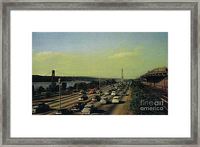Framed Print featuring the photograph George Washington Bridge  by Cole Thompson
