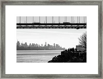 George Washington Bridge From Fort Lee Historic Park Framed Print