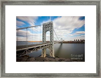 George Washington Bridge Framed Print by Greg Gard