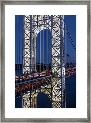 George Washington Bridge Gwb Framed Print