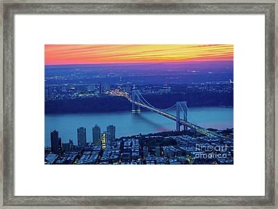 George Washington Bridge Framed Print by Inge Johnsson