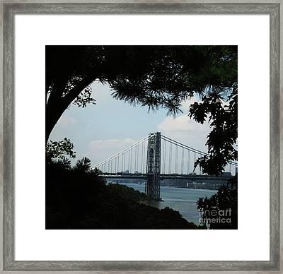 George Washington Bridge Framed Print by Maria Scarfone