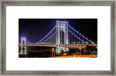 Framed Print featuring the photograph George Washington Bridge - Memorial Day 2013 by Theodore Jones