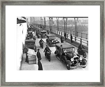 George Washington Bridge Open Framed Print