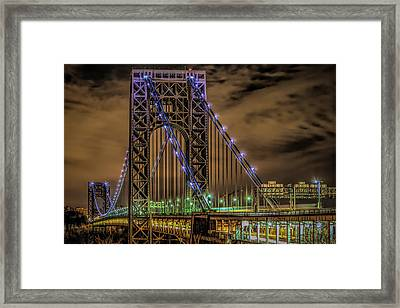 Framed Print featuring the photograph George Washington Bridge by Theodore Jones