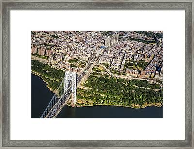George Washington Bridge Upper Manhattan Framed Print by Susan Candelario