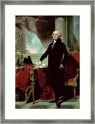 George Washington Framed Print by Gilbert Stuart