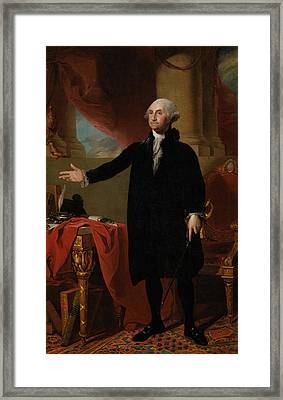 George Washington Lansdowne Portrait Framed Print by War Is Hell Store