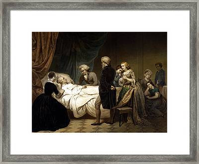 George Washington On His Deathbed Framed Print by War Is Hell Store