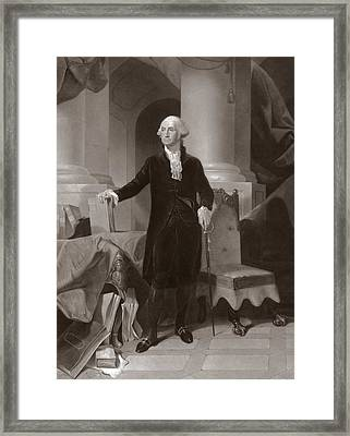 George Washington Framed Print by Peter Frederick Rothermel