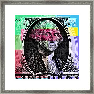 George Washington Pop Art Framed Print