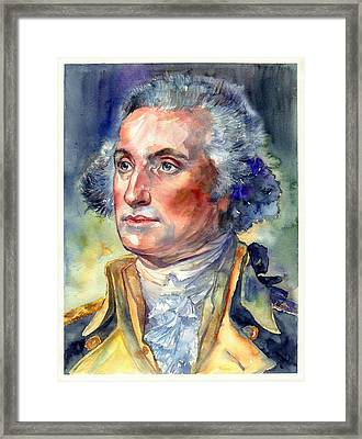 George Washington Portrait Framed Print