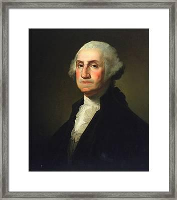 George Washington Framed Print by Rembrandt Peale