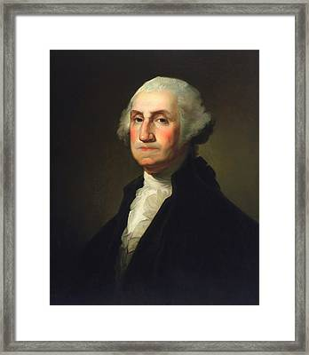 George Washington - Rembrandt Peale Framed Print by War Is Hell Store