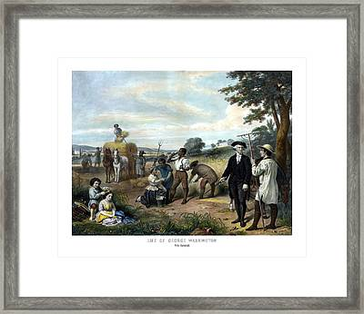 George Washington The Farmer Framed Print by War Is Hell Store