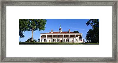 George Washingtons Home At Mount Framed Print