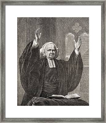 George Whitefield, 1714 To 1770. Church Framed Print by Vintage Design Pics