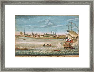 George With The City Of New York From The Southwest Framed Print