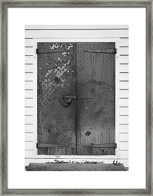 George Wythe Kitchen Door B W Framed Print