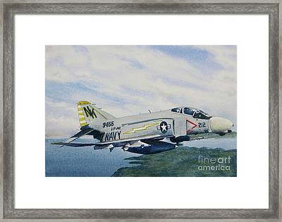 George's Fighter Plane Framed Print by Karol Wyckoff
