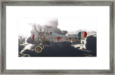 Georges Guynemer Nieuport 17 Framed Print by David Collins