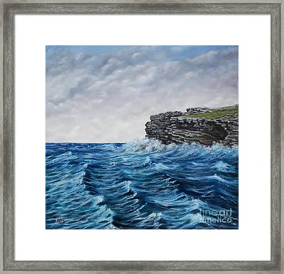 Georges Head Kilkee Oil Painting Framed Print by Avril Brand